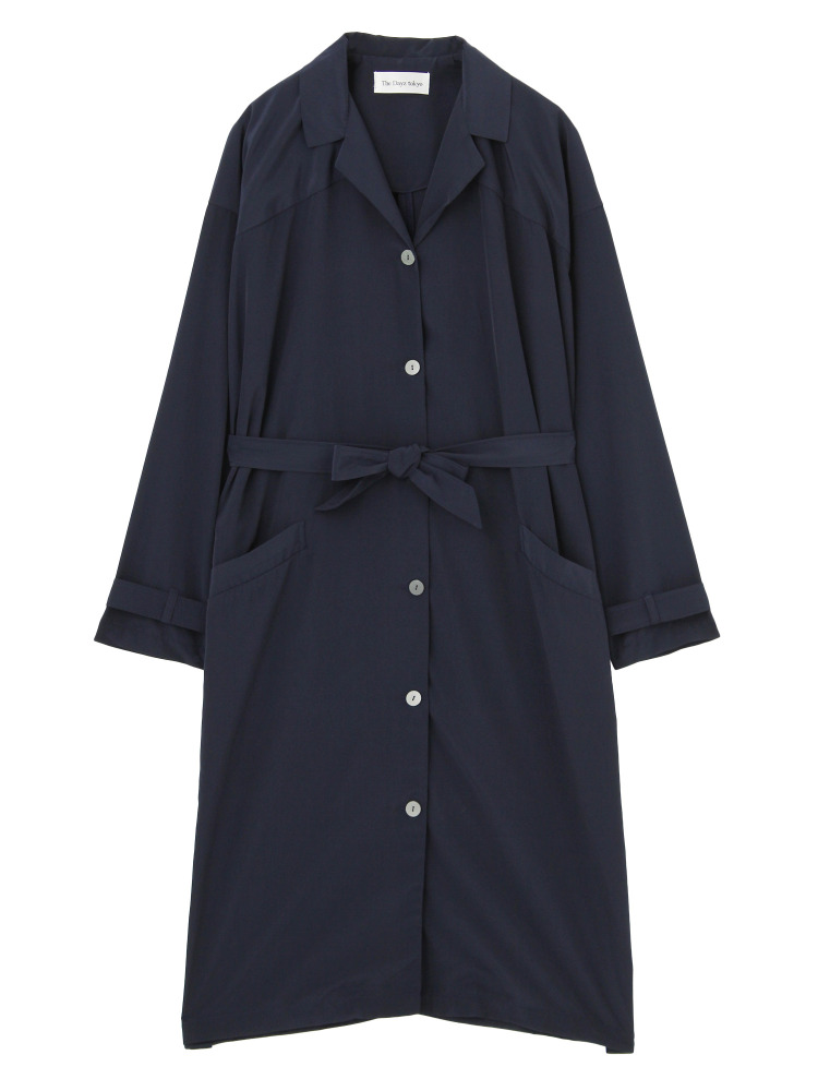 LONG SHIRTS COAT(ネイビー-F)