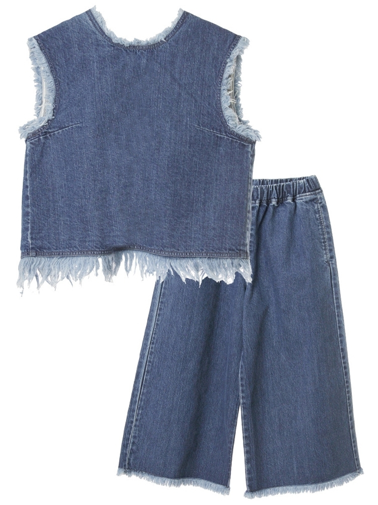 FRINGE DENIM SET UP(インディゴ-F)