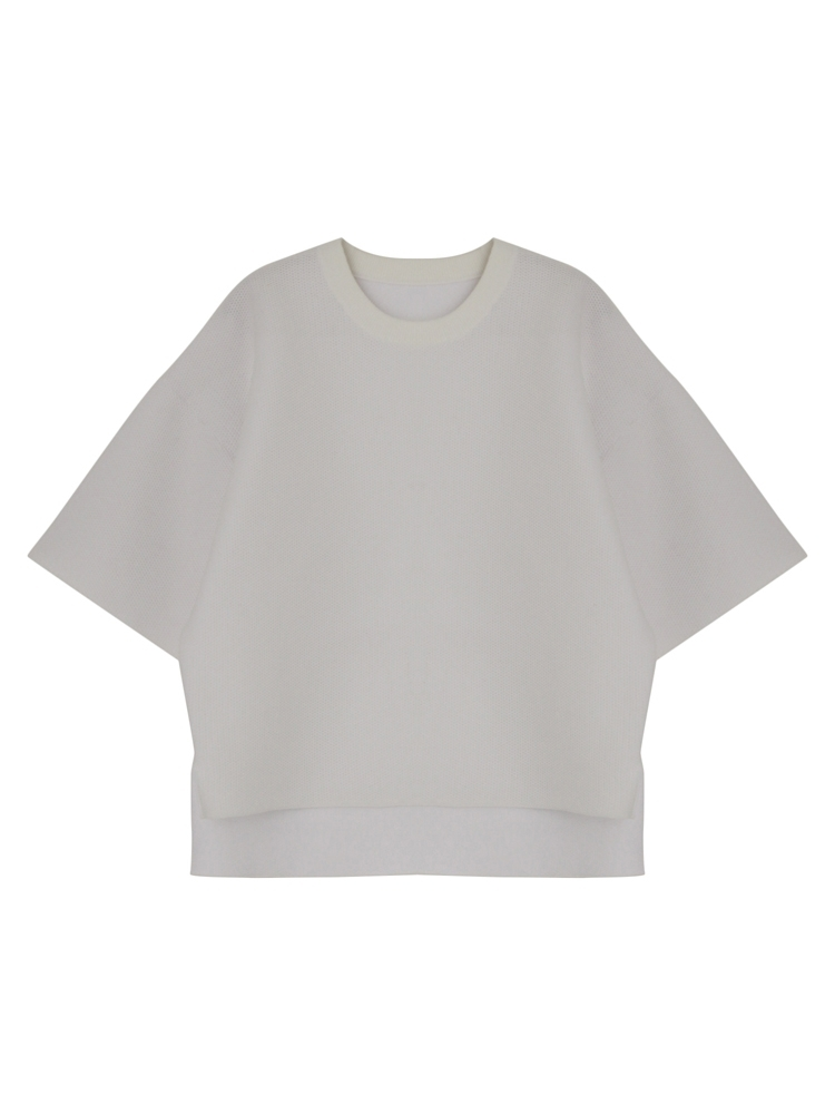 COCOON KNIT TOPS(ホワイト-F)