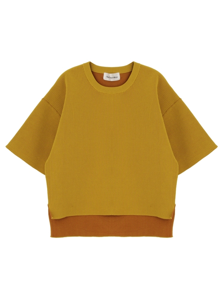 COCOON KNIT TOPS(マスタード-F)