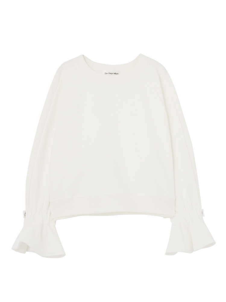 FLARE SLEEVE PULLOVER(ホワイト-F)