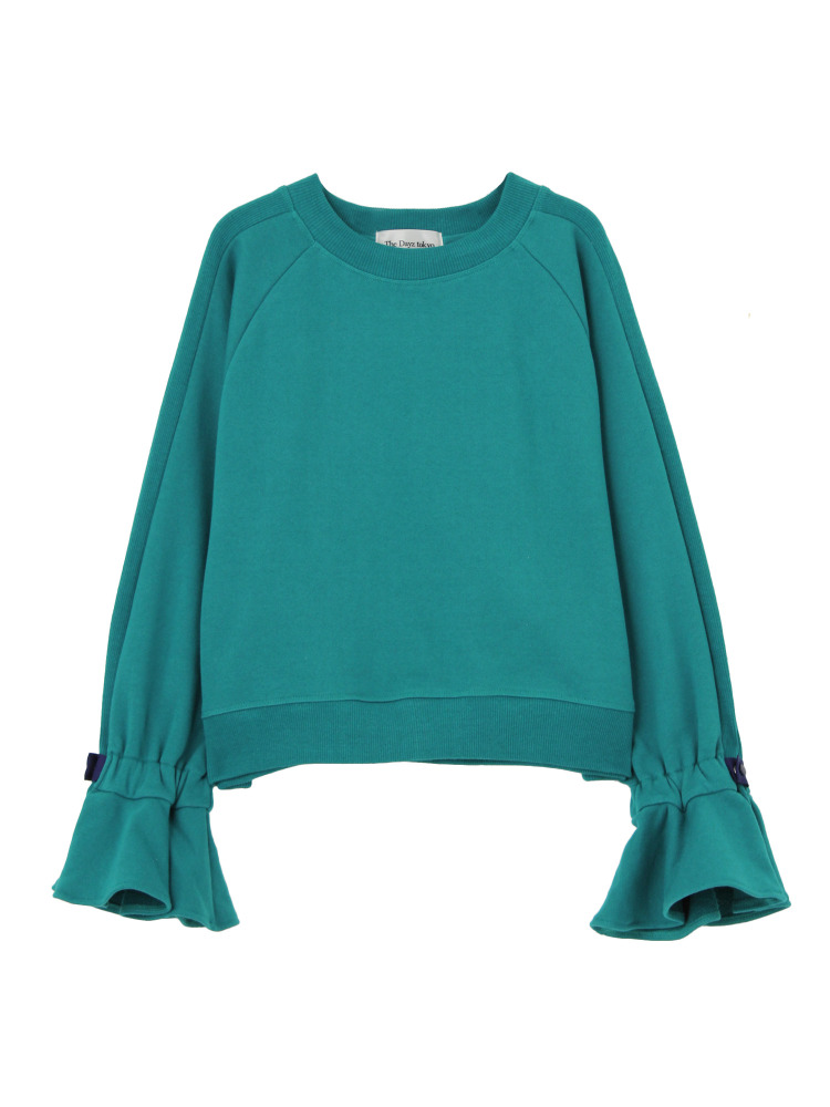 FLARE SLEEVE PULLOVER(グリーン-F)