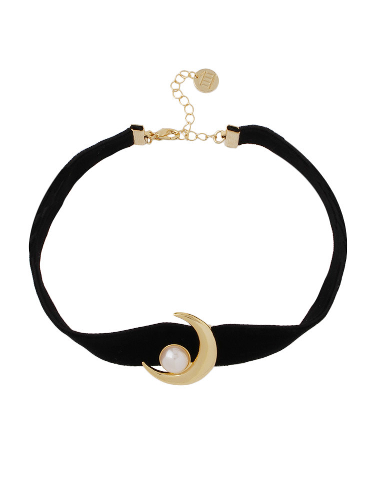 【PAMEO POSE ORIGINAL JEWELRY】MOON CHOKER(ゴールド-F)