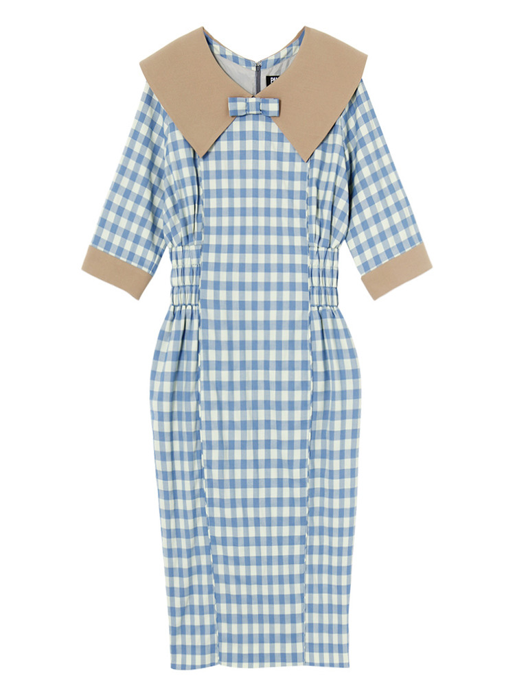 PLUM GARDEN DRESS(ブルー-S)
