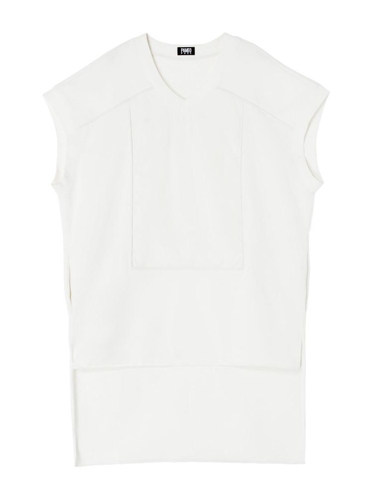 OVERSIZED T-SHIRT DRESS(ホワイト-F)