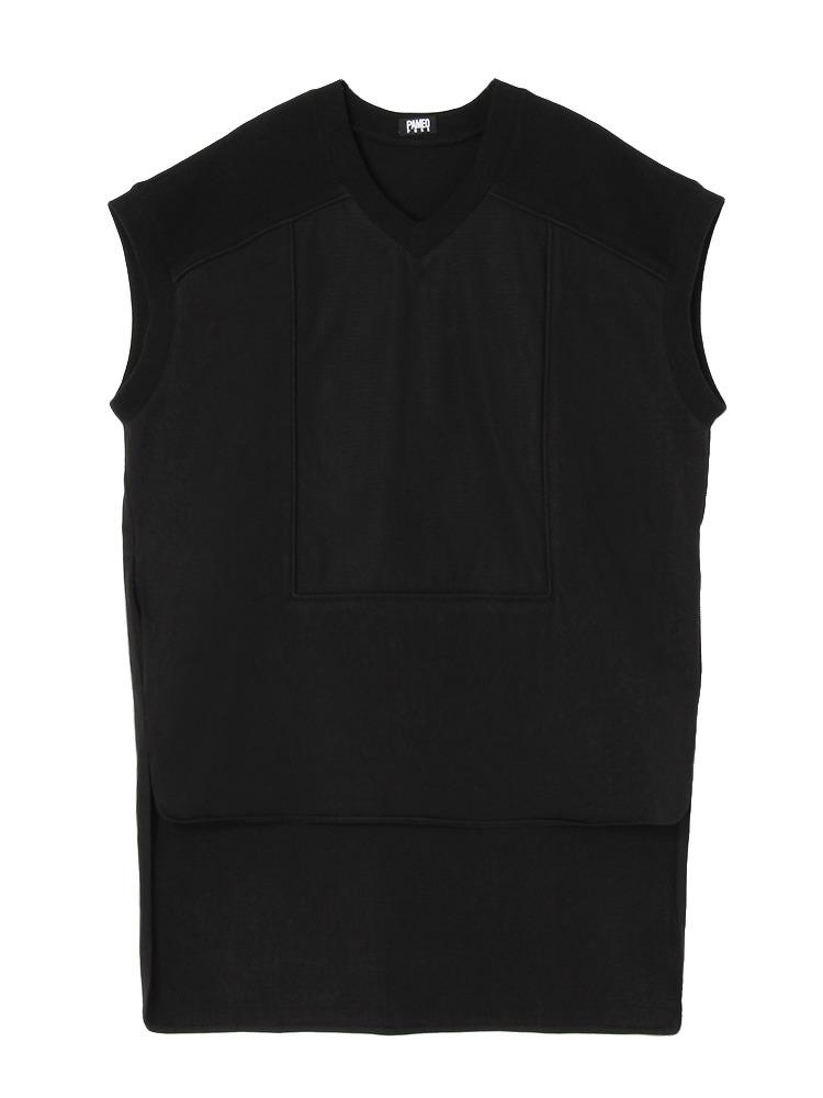 OVERSIZED T-SHIRT DRESS(ブラック-F)