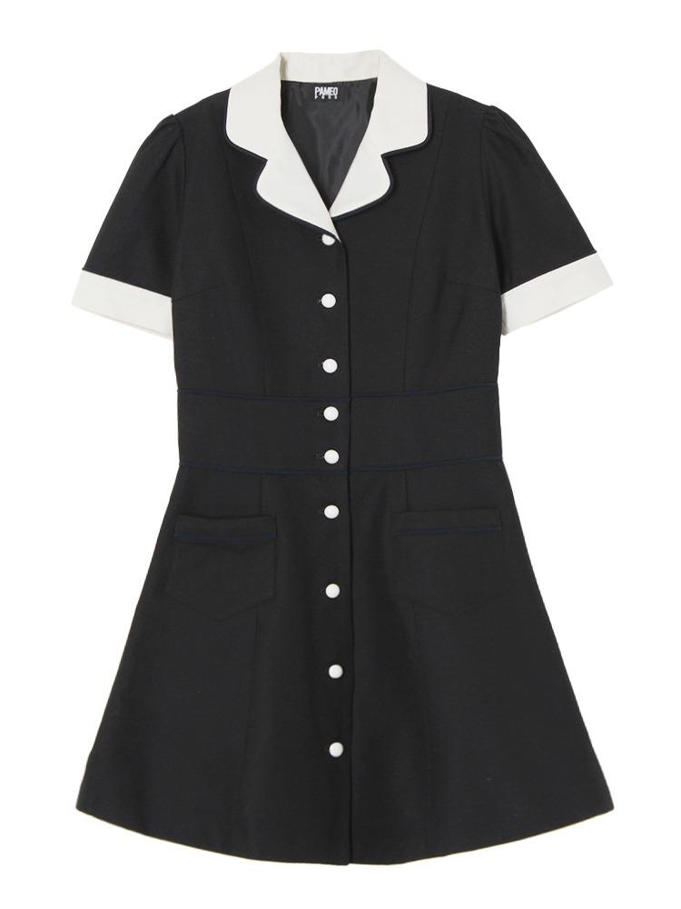 STACEY DRESS(ブラック-S)