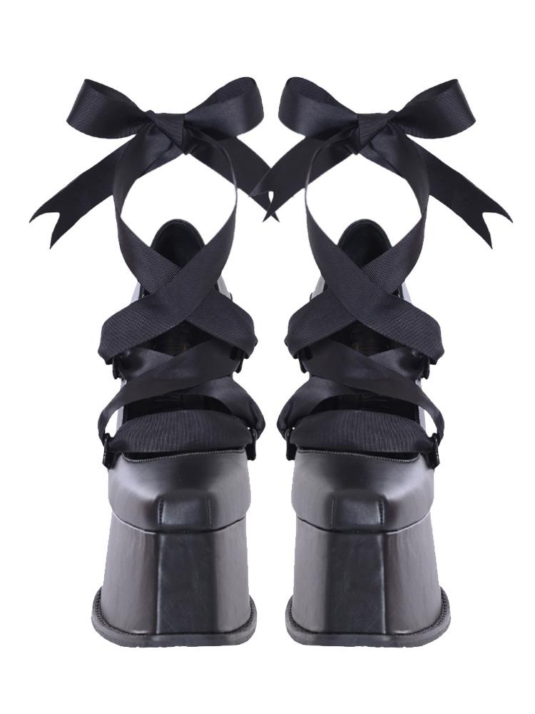 BLACK KEYS HEEL PUMPS(ブラック-36)