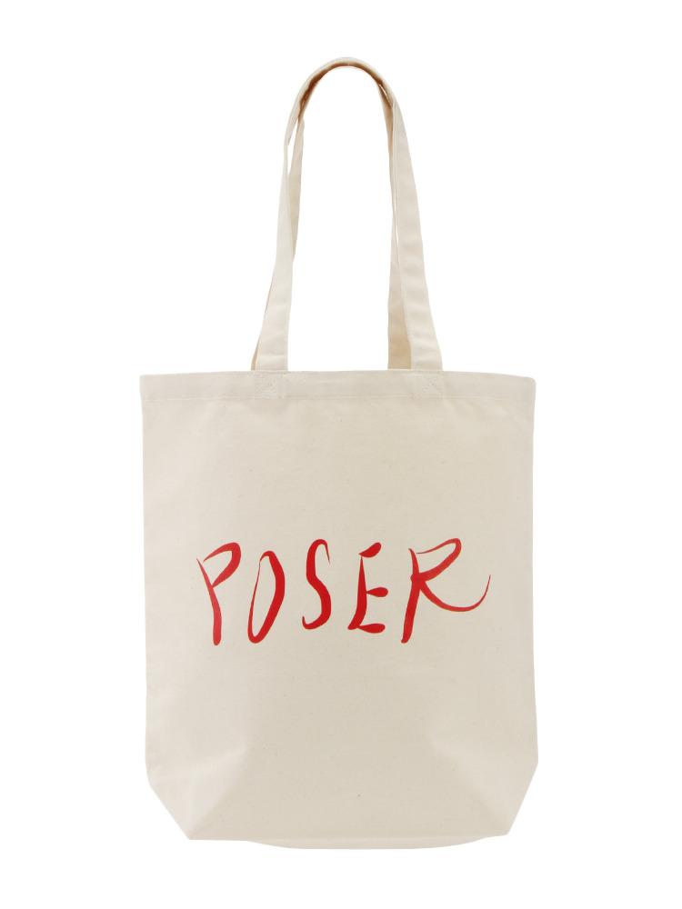 【表参道店オリジナル】POSER TOTE BAG(オフホワイト-F)