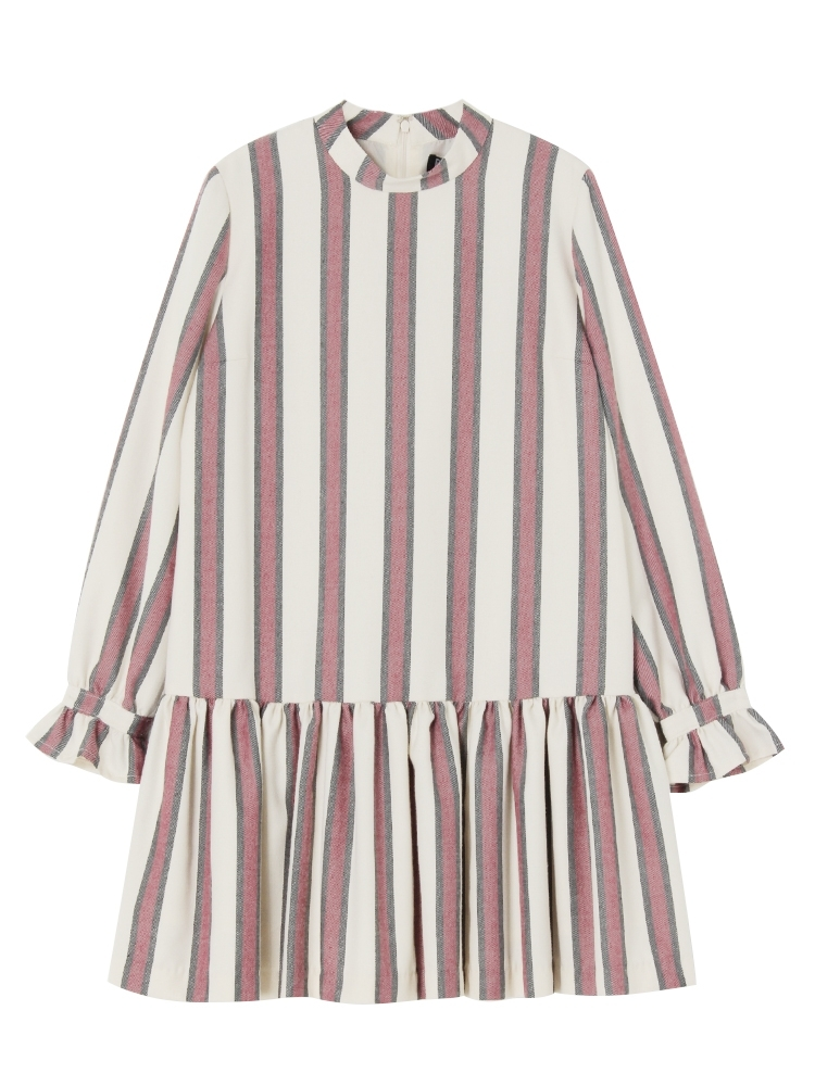 PAJAMA STRIPE DRESS(ホワイト-F)