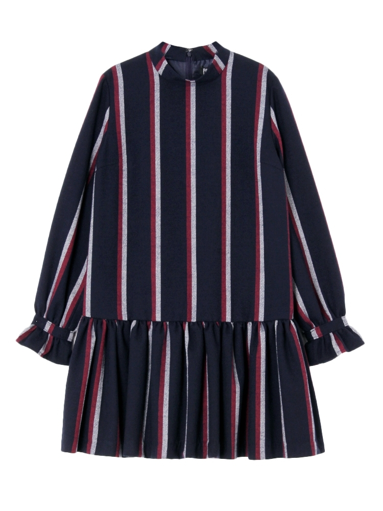 PAJAMA STRIPE DRESS(ネイビー-F)