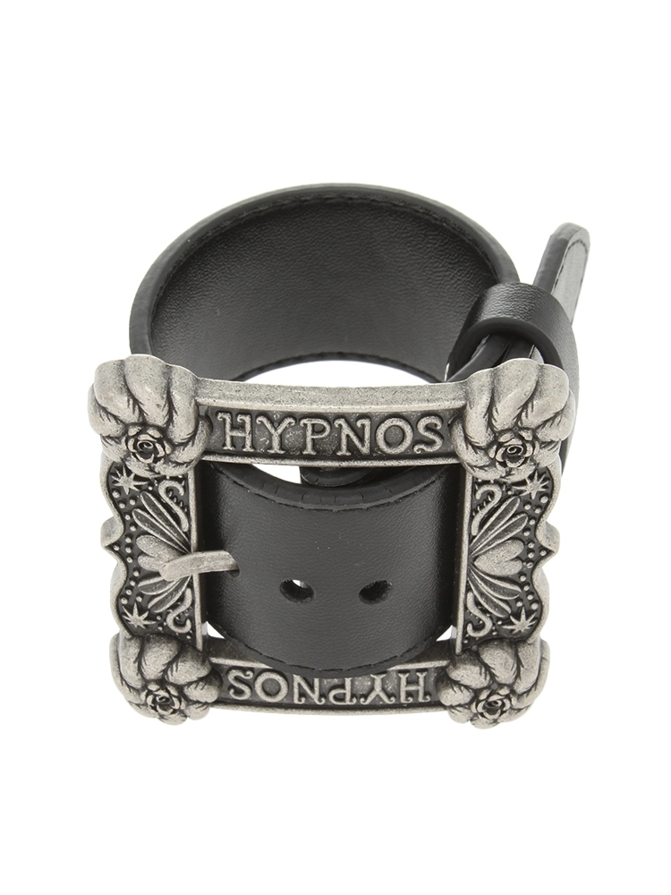 【再入荷予約受付中】HYPNOS BUCKLE BANGLE(ブラック-F)