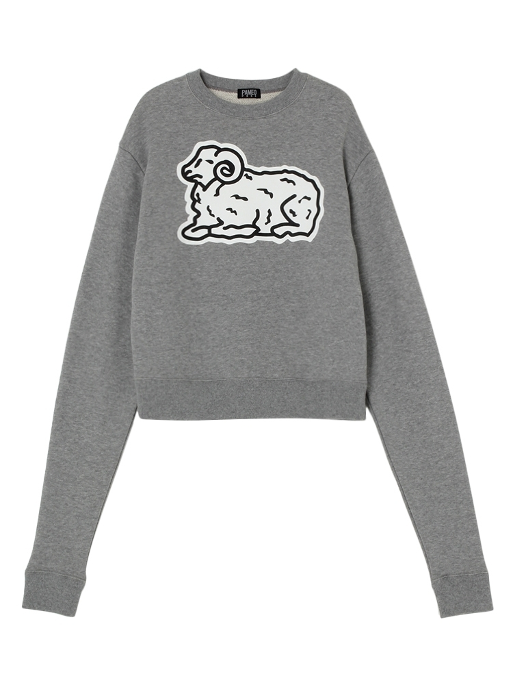 COUNT SHEEP SWEAT TOP(グレー-F)