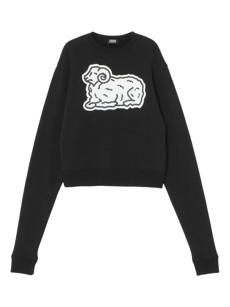 COUNT SHEEP SWEAT TOP(ブラック-F)