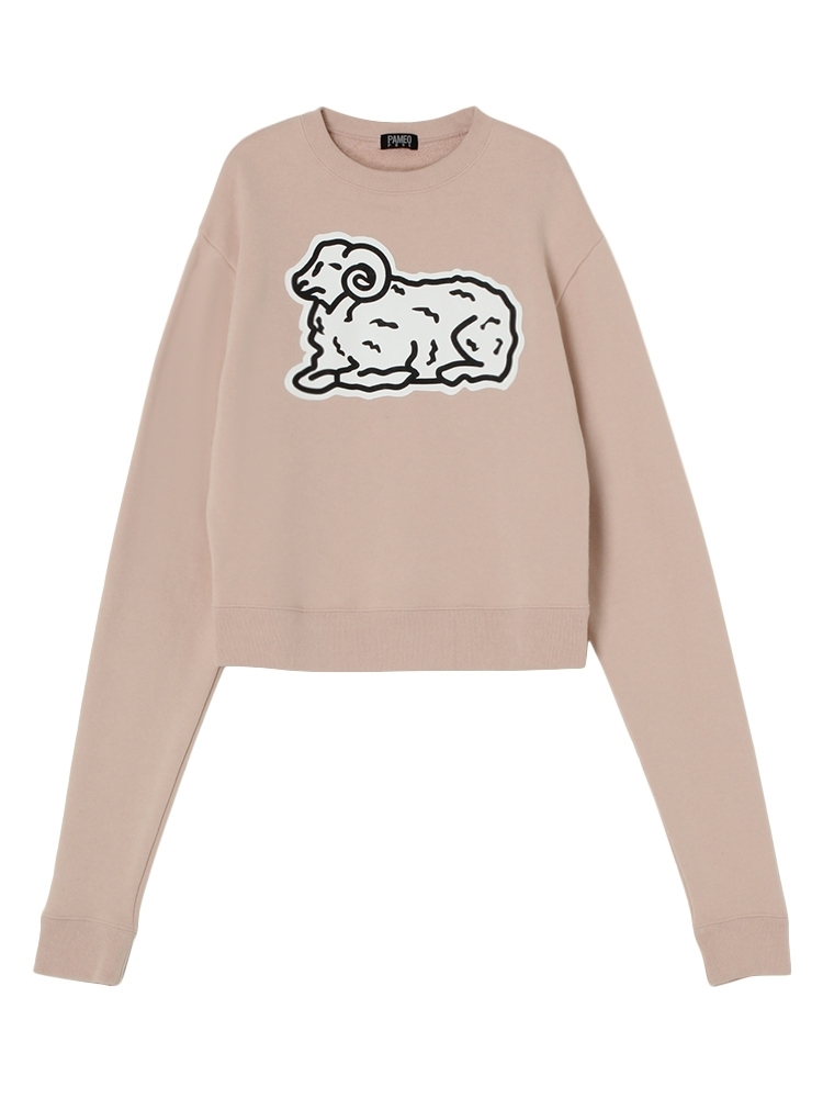 COUNT SHEEP SWEAT TOP(ピンク-F)