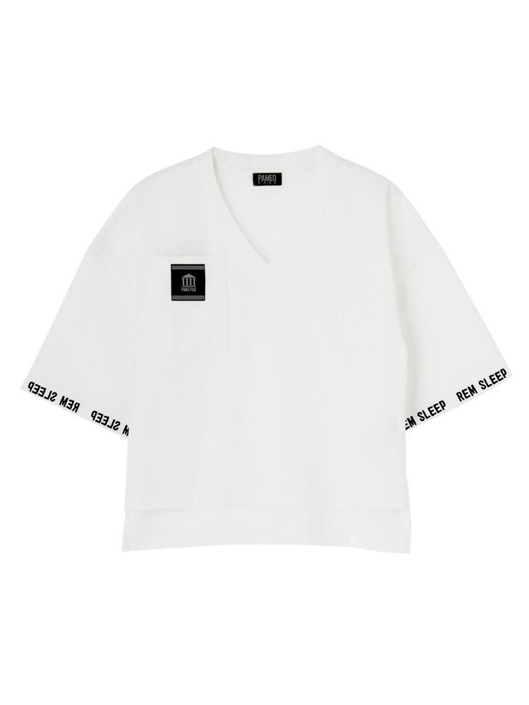【数量限定】REM SLEEP V-NECK T-SHIRT(ホワイト-F)