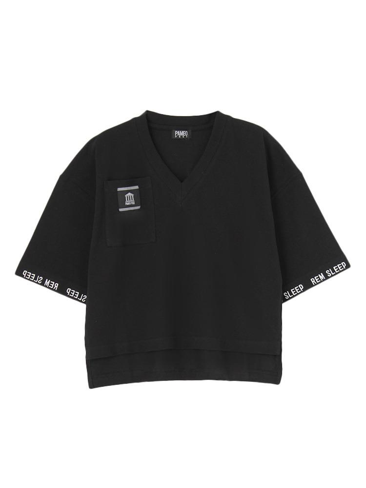 【数量限定】REM SLEEP V-NECK T-SHIRT(ブラック-F)