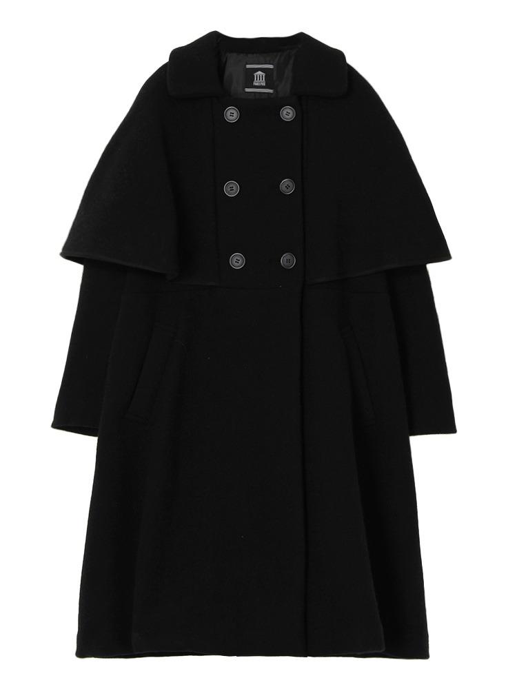【9月下旬配送予定】CAPE COAT(ブラック-F)