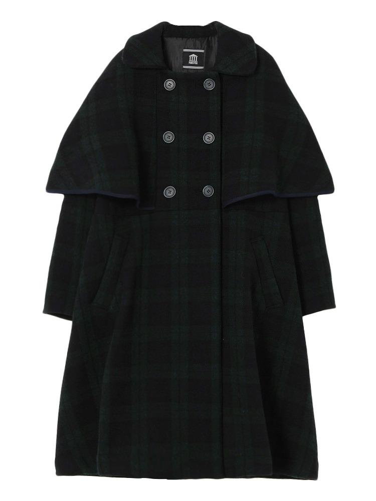 【9月下旬配送予定】CAPE COAT(グリーン-F)