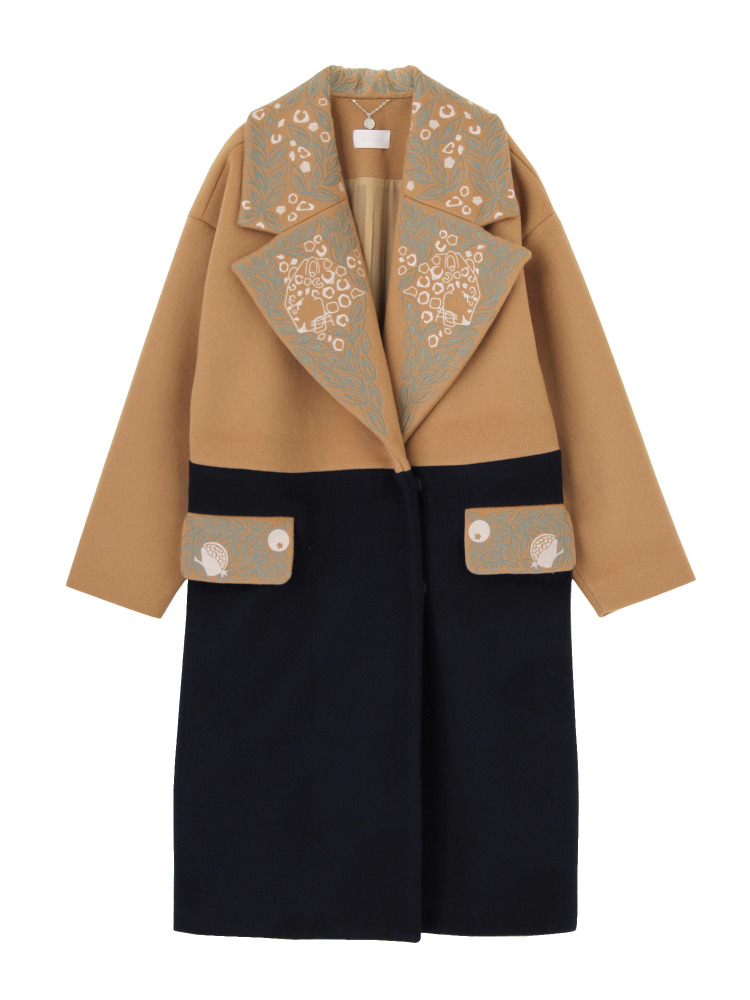 【Disaya】UNDERCOVER SAFARI EMBROIDERED POCKETS WOOLEN COAT(ヌード-8)
