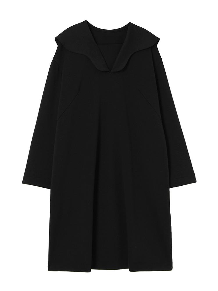 JERSEY SAILOR COLLAR DRESS(ブラック-F)