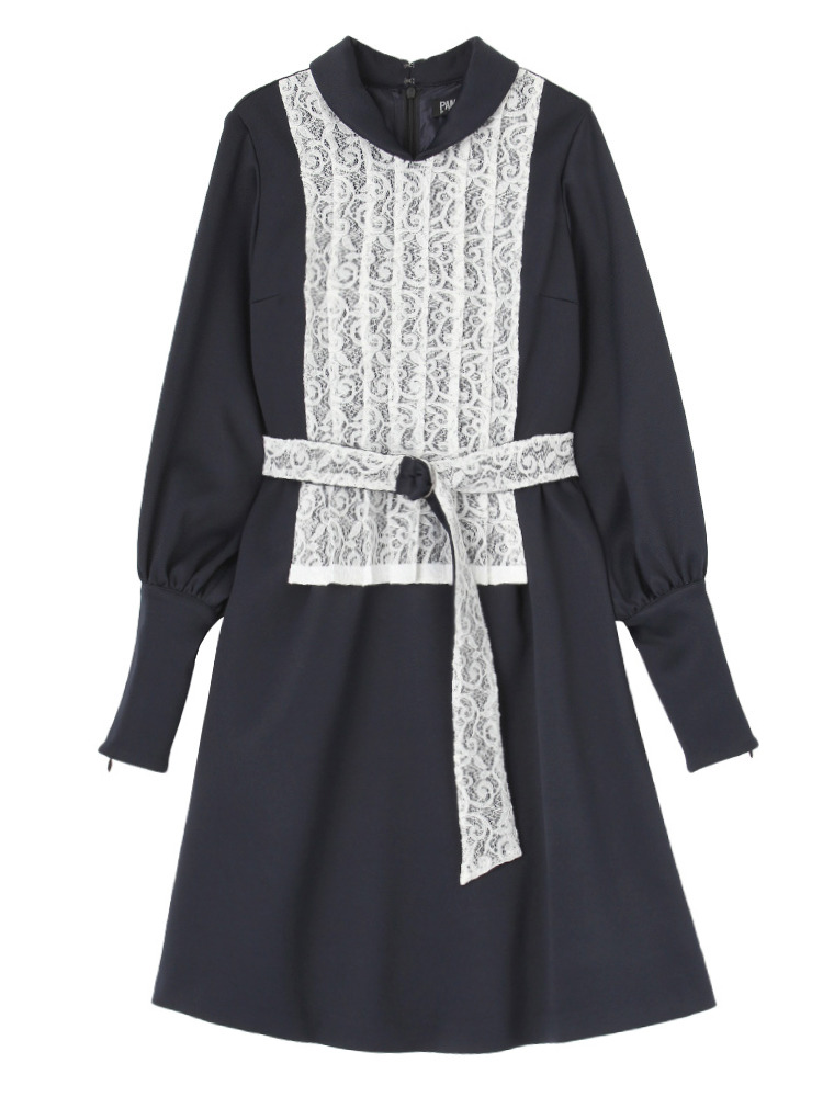【11月中~下旬配送予定】VOYNICH LACE DRESS(ホワイト-S)