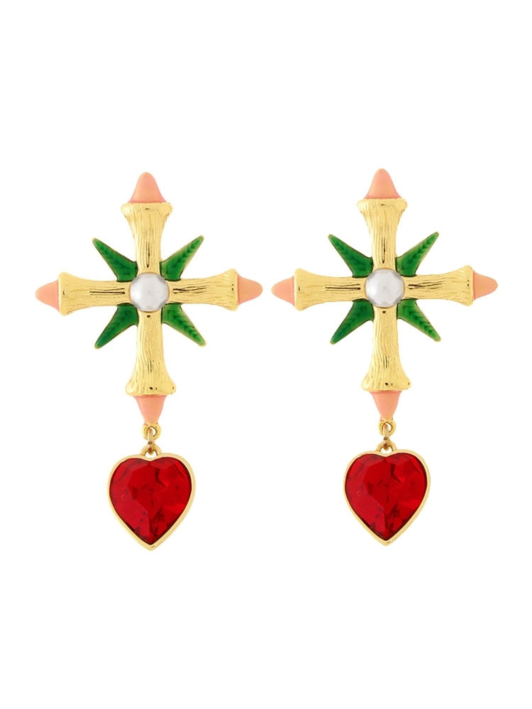 【PAMEO POSE ORIGINAL JEWELRY】VOY-FLOWER EARRING(ミックス-F)