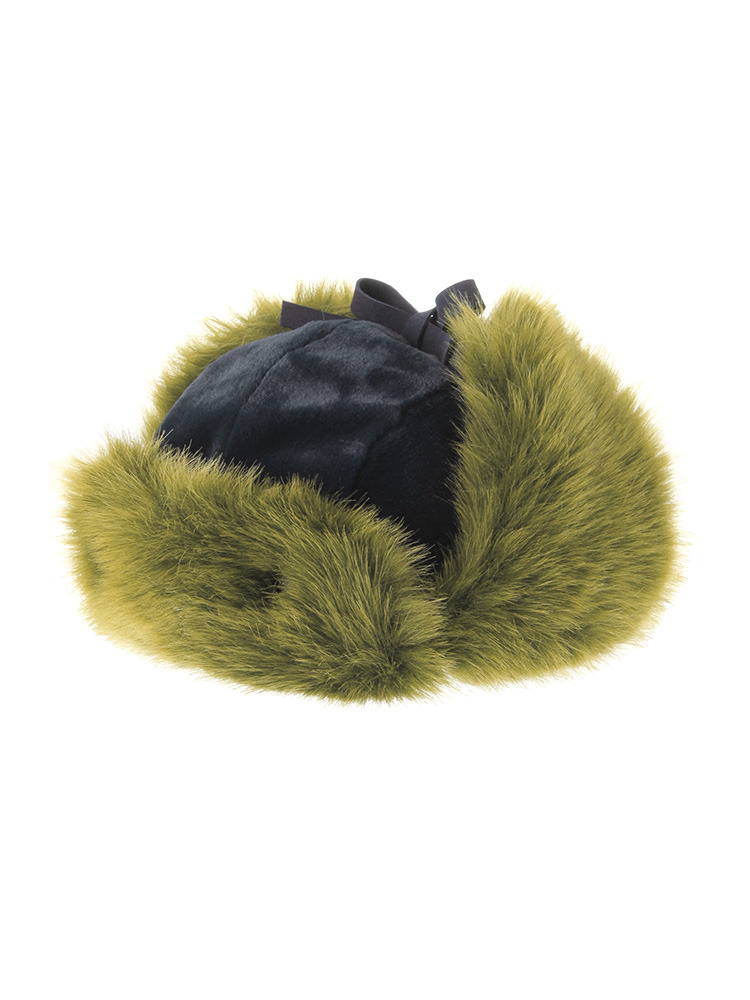 FUR FLIGHT CAP(カーキ-F)