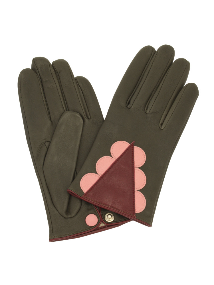 【aristide】Triangle Frill Hand Gloves(カーキ-F)