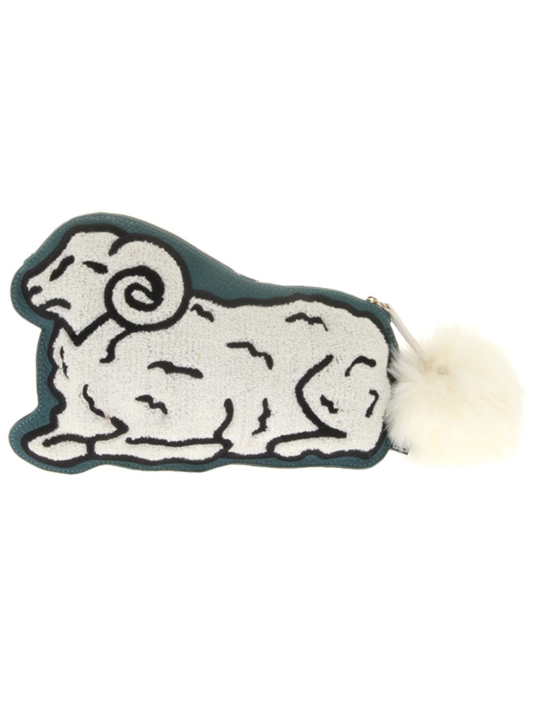 COUNT SHEEP CLUCH BAG(ホワイト-F)