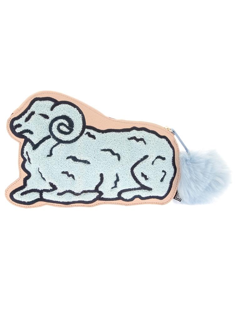 COUNT SHEEP CLUCH BAG(スカイブルー-F)