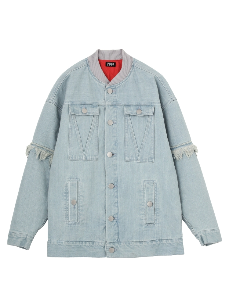 2WAY DENIM JACKET(スカイブルー-F)