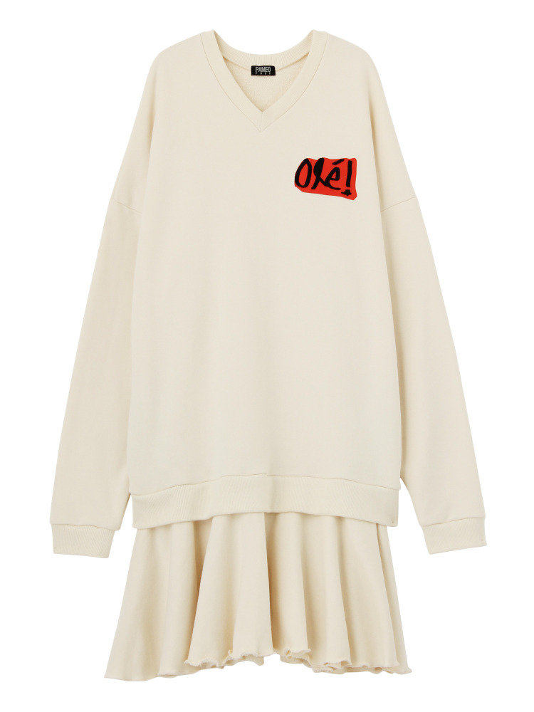 OLE! SWEAT DRESS(ホワイト-F)