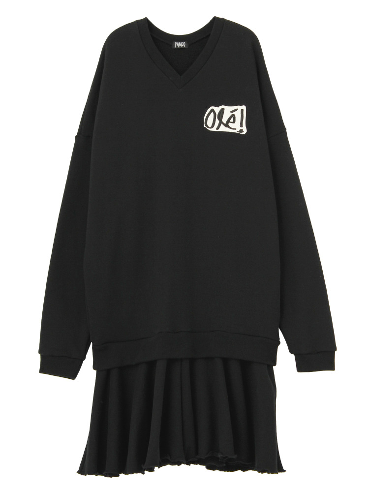 OLE! SWEAT DRESS(ブラック-F)
