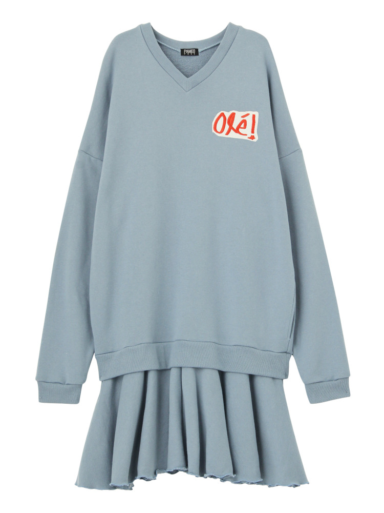 OLE! SWEAT DRESS(スカイブルー-F)