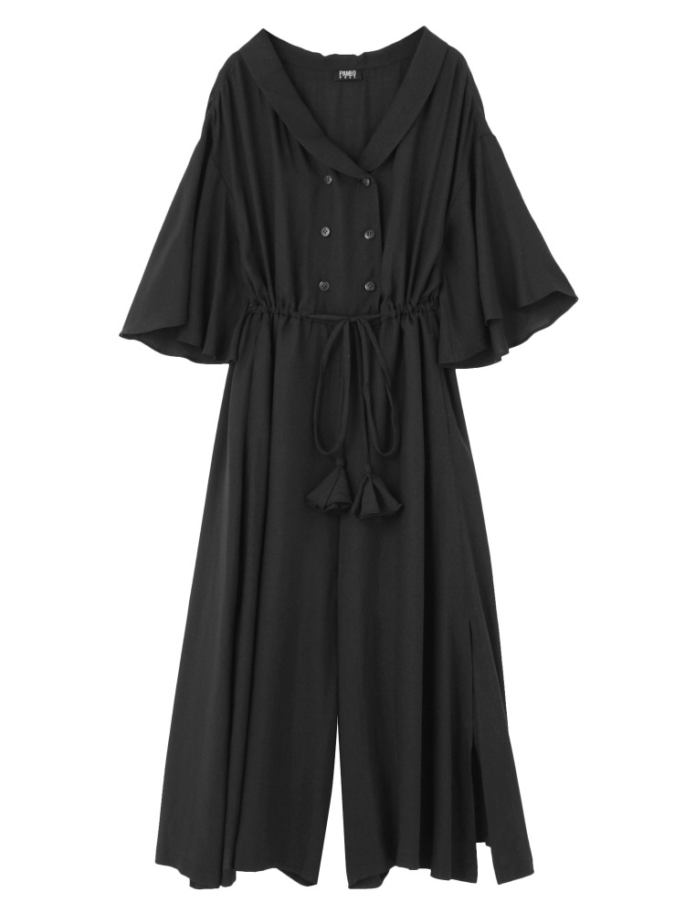 LOOSE FITTING JUMPSUIT(ブラック-F)