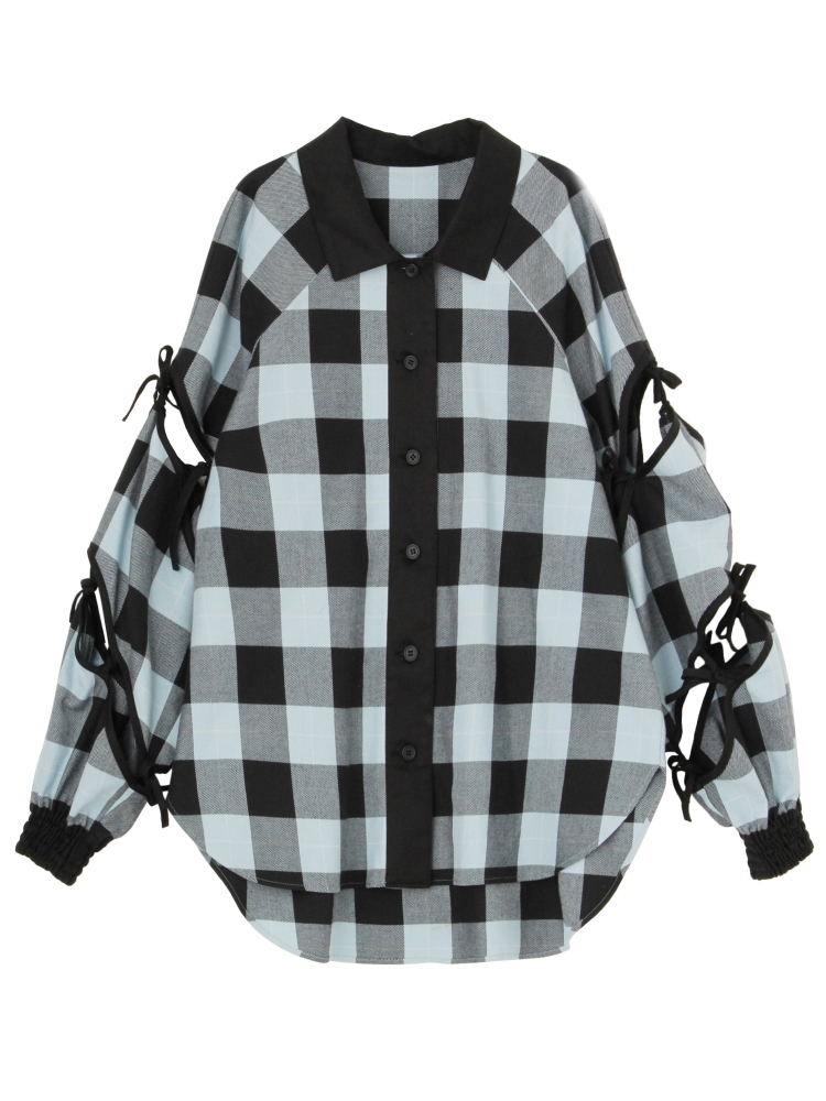 3WAY CASA VECENS PLAID SHIRT(ブラック-F)