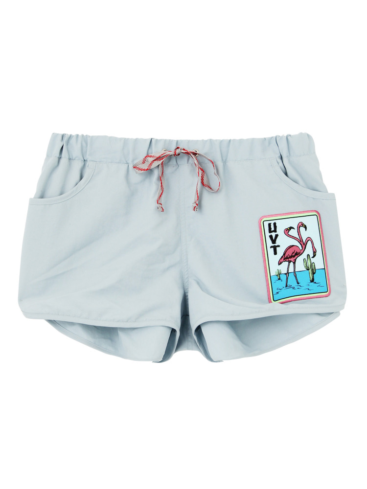 THREE HEADS FLAMINGO BOARD SHORTS(スカイブルー-F)