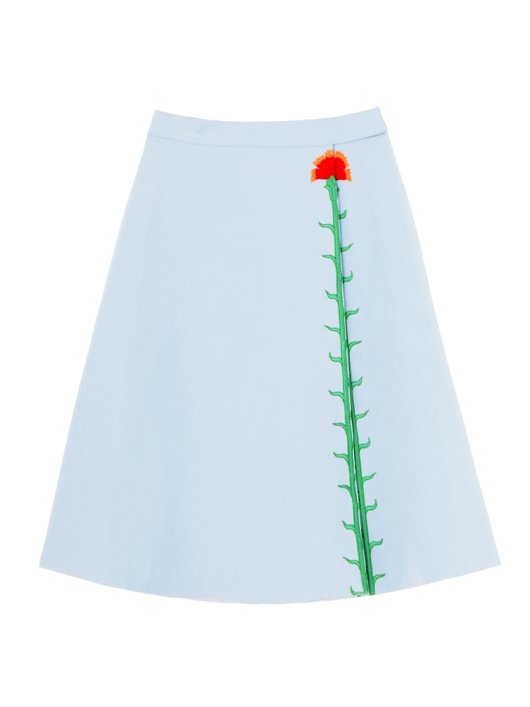 【伊勢丹OPEN記念】CARNATION EMBROIDERED SKIRT(スカイブルー-F)