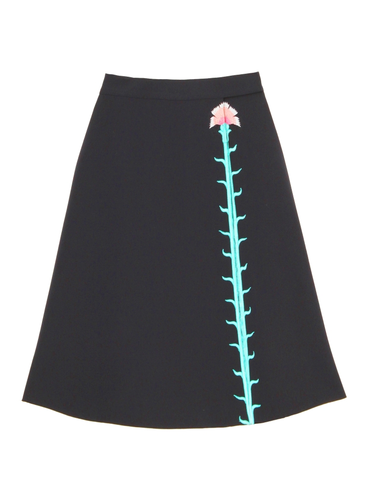 【伊勢丹OPEN記念】CARNATION EMBROIDERED SKIRT(ネイビー-F)