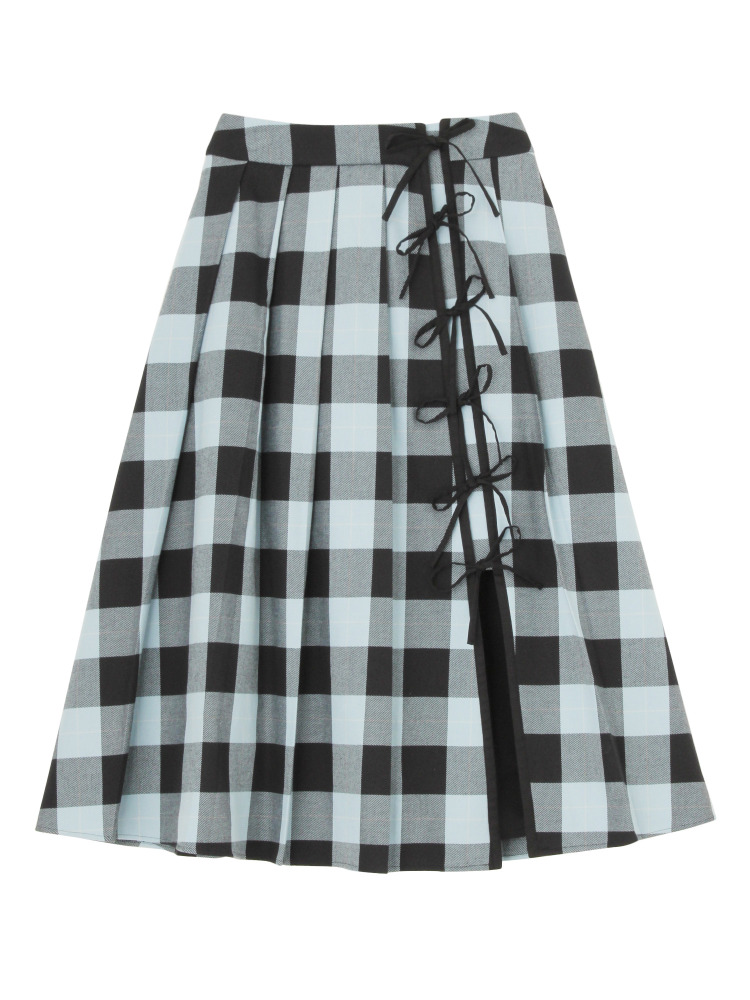 CASA VICENS PLAID SKIRT(ブラック-S)