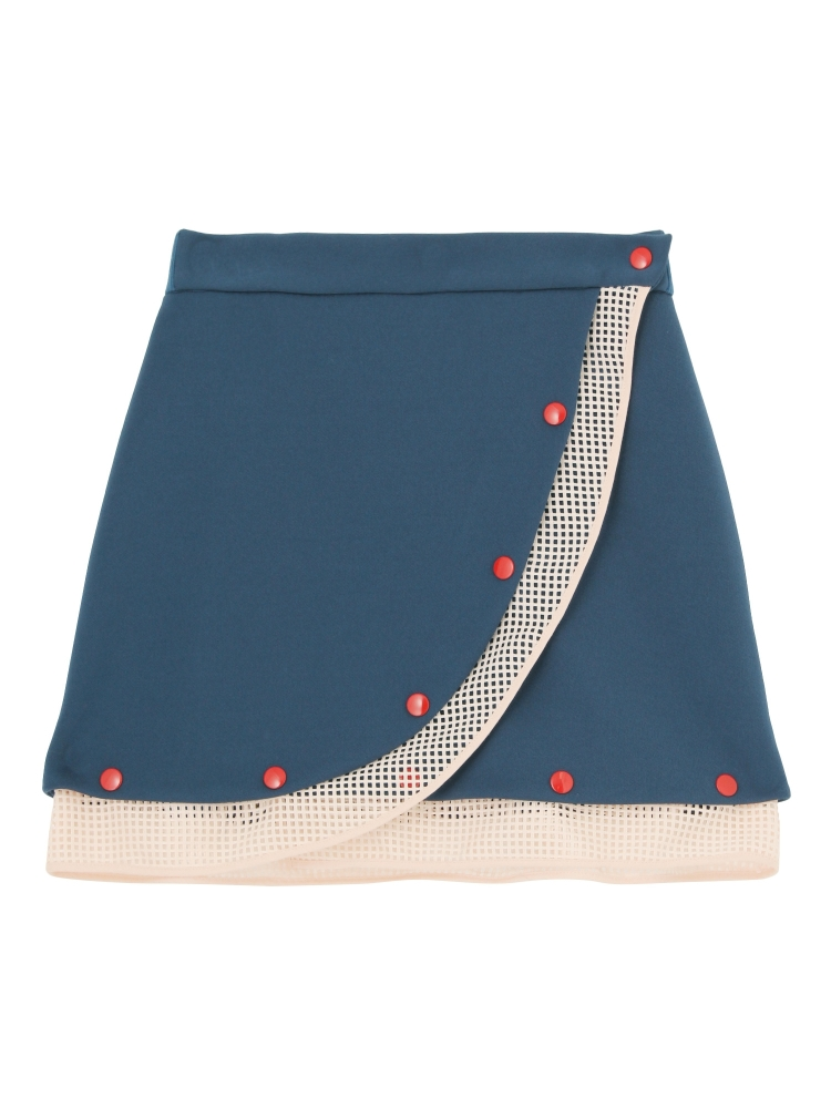 MESH DETAIL MINI SKIRT(ネイビー-F)
