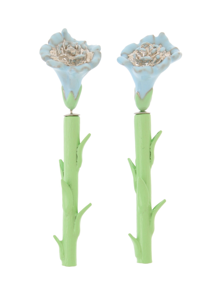 CARNATION EARRING PALE COLOR(スカイブルー-F)