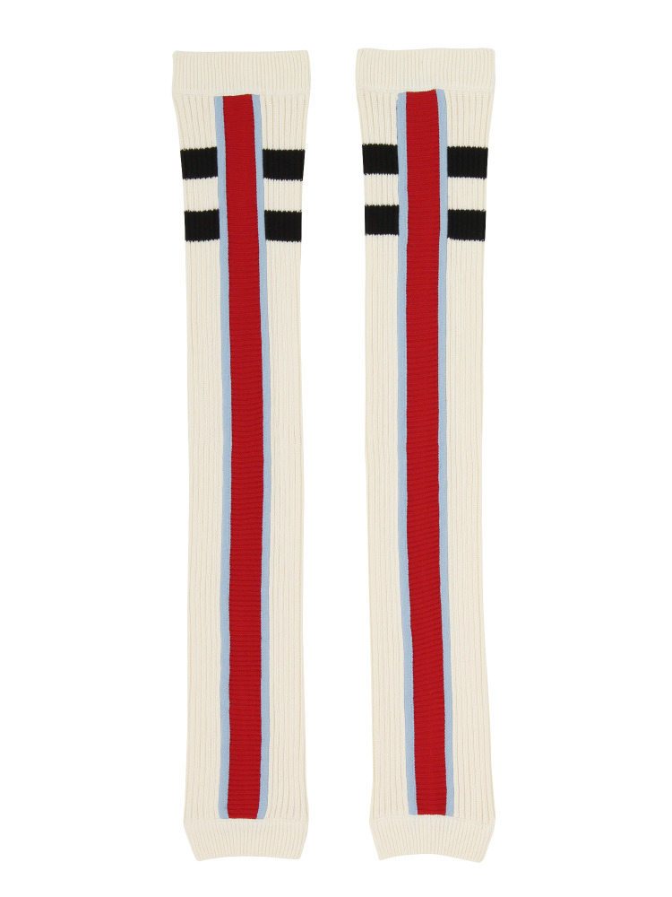 BARCELONA TEAM LEGWARMERS WHITE(レッド-F)