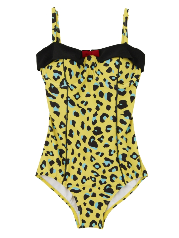 【新作水着】DITA SWIMSUIT LEOPARD(イエロー-F)