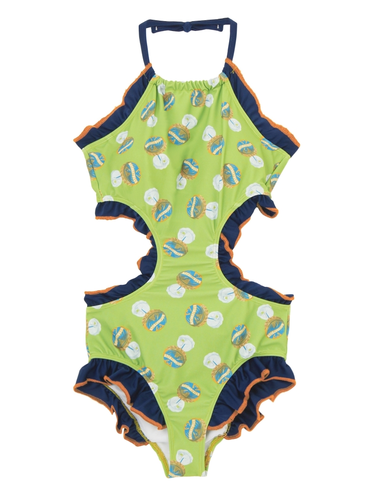 EIGHT MONOKINI  PATTERN(グリーン-F)