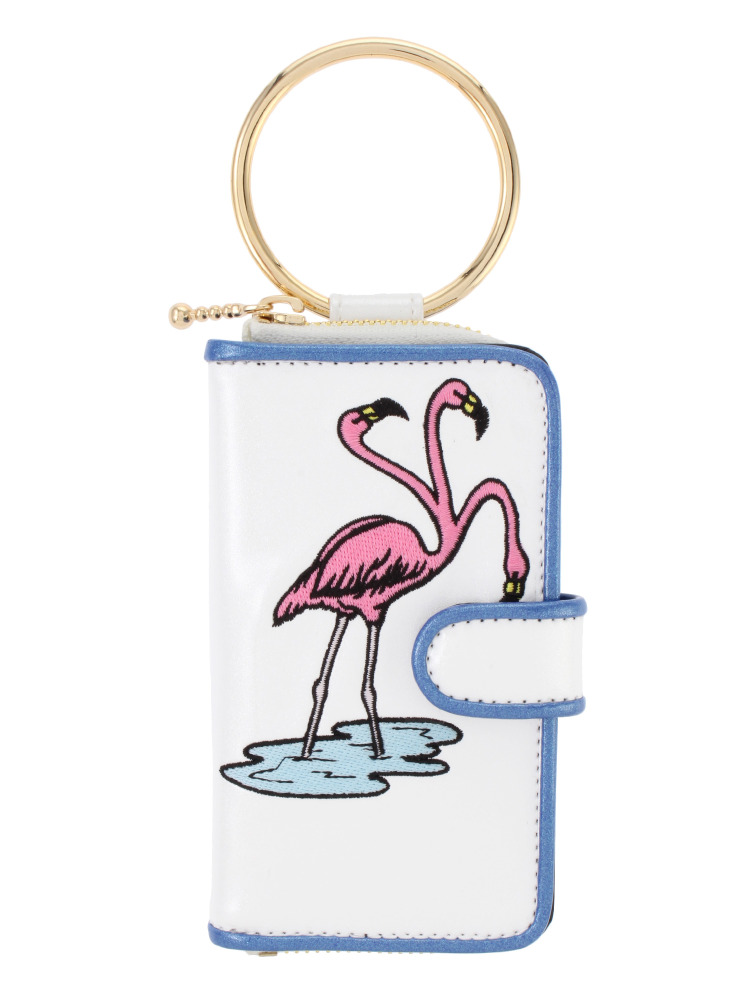 FLAMINGO IPHONE CASE(ホワイト-F)