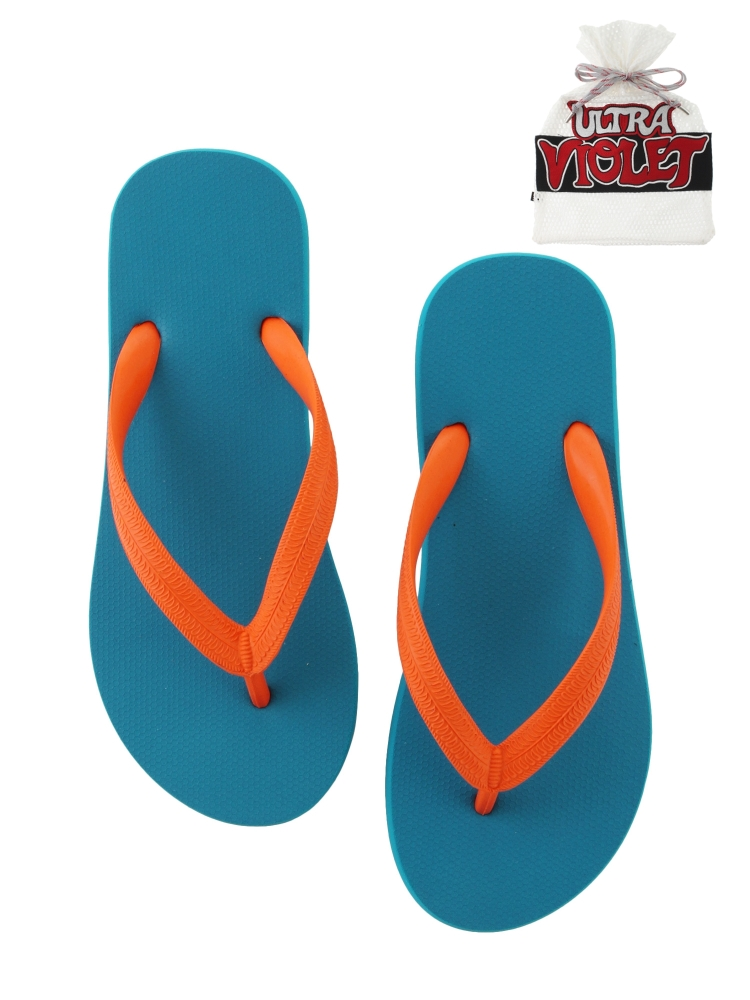 NATURAL RUBBER FLIP FLOPS TURQUOISE(オレンジ-S)