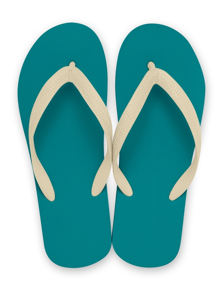 NATURAL RUBBER FLIP FLOPS TURQUOISE(ベージュ-S)