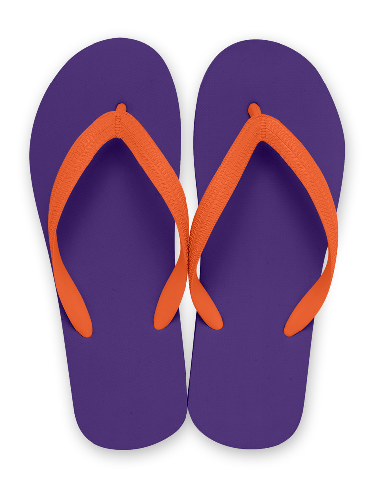 NATURAL RUBBER FLIP FLOPS PURPLE(オレンジ-M)